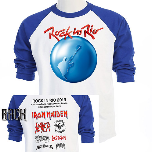 IRON MAIDEN,Rock In Rio,Local TOUR,T-1039Blue