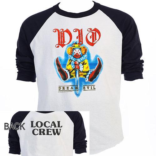 """DIO,Ronnie James Dio,""""DREAM EVIL TOUR"""" Local Crue T-SHIRTS,SIZES S-5XL,T-1440"""