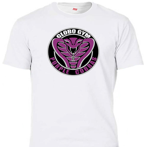 GLOBO GYM, Purple Cobras, Cool White, T-SHIRT,Size: S-5XL T-1226
