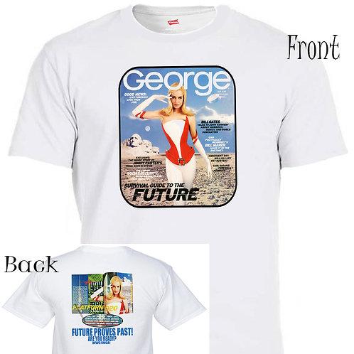 "GEORGE MAGAZINE,Feb,1997""Survival Guide To The Future"" TRUMP ,Q T-Shirt"