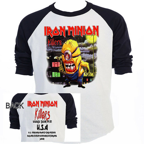 The MINIONS,Iron Maiden,Inspired,KILLERS,Tour T-SHIRTS,SIZES S-5XL,T-1432