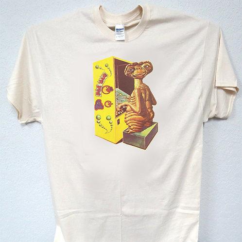 "ET, E.T., ""Playing Pac Man"" Funny, Cool, T-Shirt Ivy Sizes: S-5xl T-1501 L@@K"