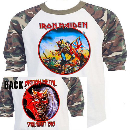 IRON MAIDEN The Trooper Purgatory Green Camo T-521