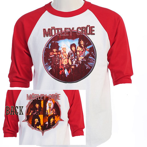 MOTLEY CRUE,Shout at The Devil Tour RETRO T-462Red