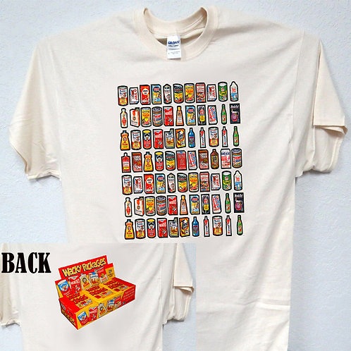 "WACKY PACKAGES ""70's Series 1 Combo 2-Sided"" T-SHIRT,S,-5X,T-236ivy"
