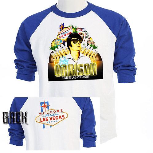 ROY ORBISON,Live in Vegas 1983 TOUR Baseball T-758