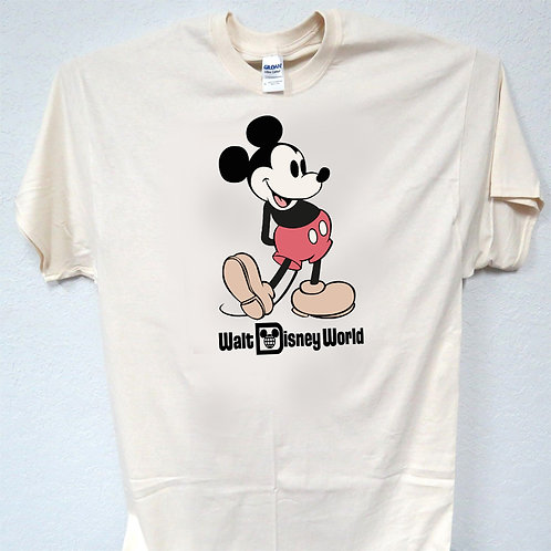 "MICKEY MOUSE ,""Disney World"" 70's RETRO T-SHIRT,S,M,L,XL,2X,3X,4X,5X,T-854Ivy"