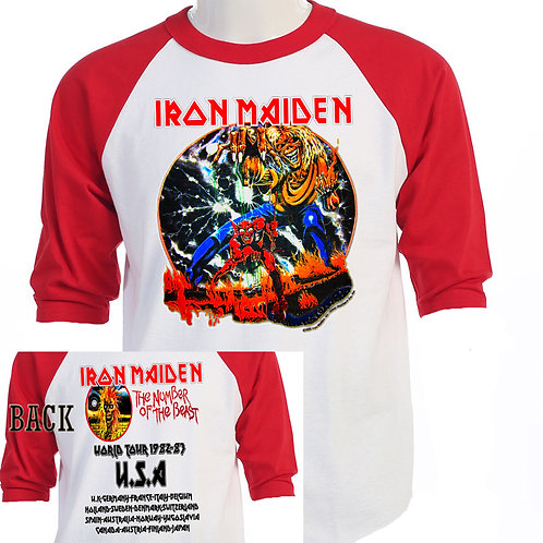 "IRON MAIDEN,""Number of the Beast Retro T-471"