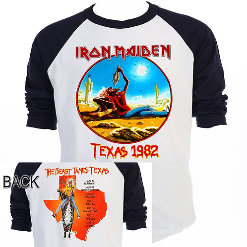 IRON MAIDEN,The Beast Tames Texas 82 Tour T-558Blk