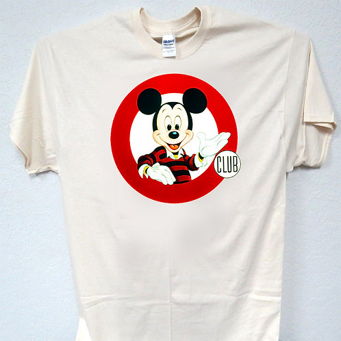 MICKEY MOUSE, CLUB, DISNEY, CLASSIC, IVORY, T-SHIRT,Size: S-5XL, T-848
