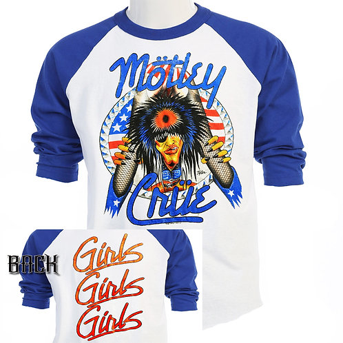 MOTLEY CRUE, Girls Girls Girls 87 TOUR,T-953Blue
