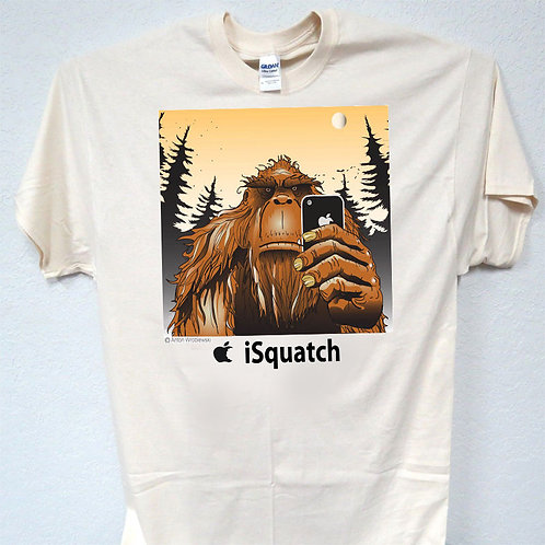 "BIGFOOT,Sasquat​ch,""iSquatch"" Great Art, T-SHIRT,S,-5xl,T-32Ivy"
