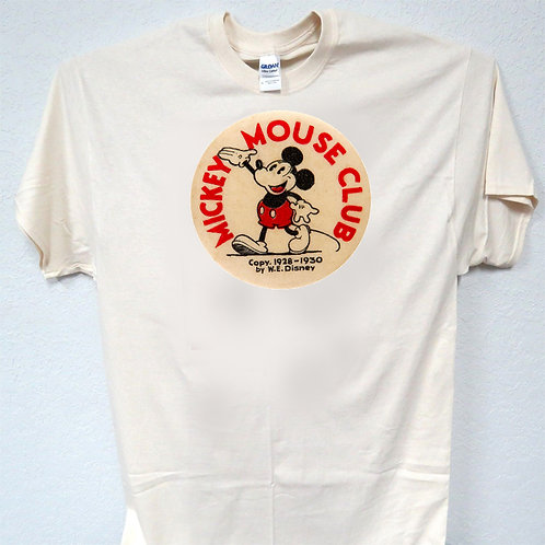 MICKEY MOUSE, CLUB, VINTAGE, DISNEY IVORY, T-SHIRT,Size: S-5XL T-853