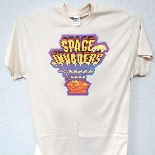 SPACE INVADERS, Arcade Old School, Cool, T-Shirt Ivy SIZES S-5XL, T-1485 L@@K