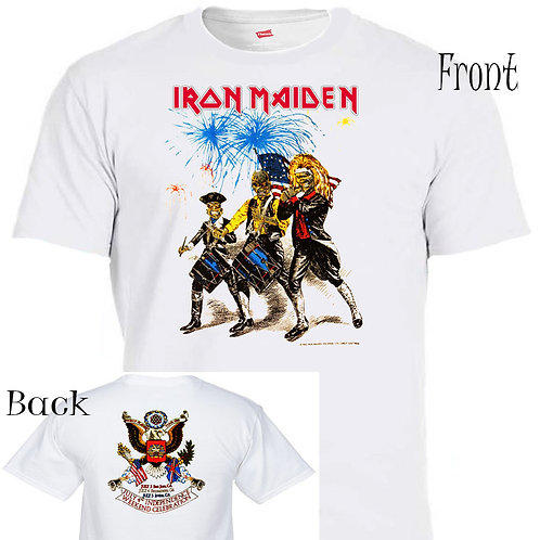 IRON MAIDEN,4th Of July,86' TOUR,Rare Art T-573 White T-shirt