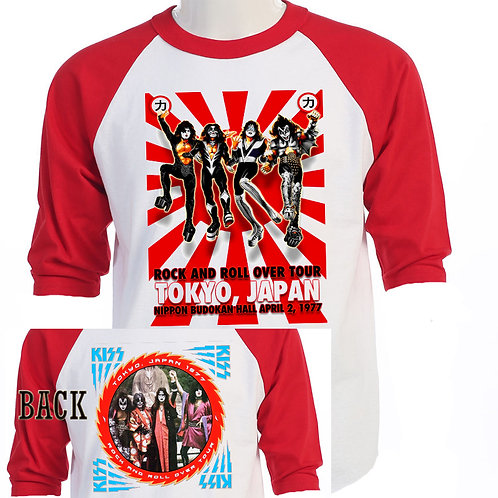 KISS.Rock and Roll Over JAPAN Two Sided Tour BASEBALL SHIRT T-433