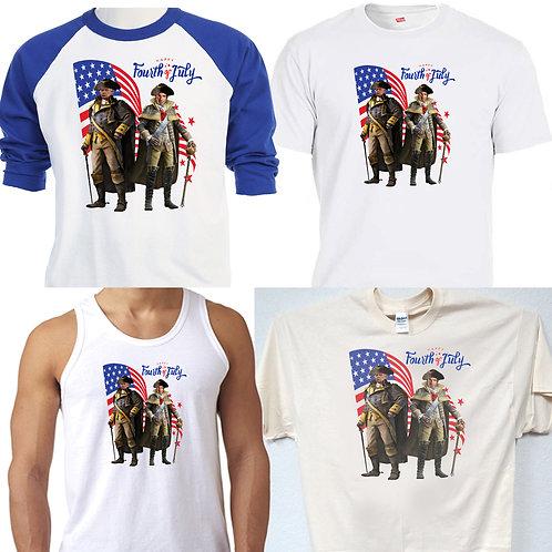 DNALD TRUMP,JFK Jr,4th of July,1776 Patriots Maga,MEN'S T-SHIRT,T-1461Wht