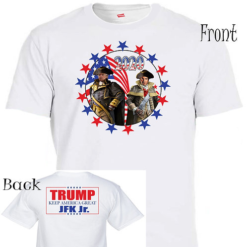 "DONALD TRUMP,JFK Jr,""2020 Election"",The Plan Patriots Maga,MEN'S T-SHIRT,T-1464"