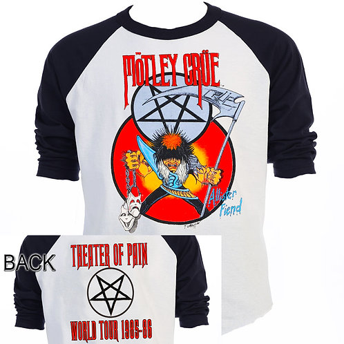 MOTLEY CRUE,Theater of Pain, 85-86 TOUR T-949Blk