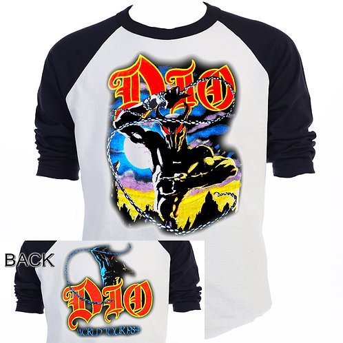 "DIO,""Holy Diver"" 84 WORLD TOUR  T-SHIRT -T-554Blk"