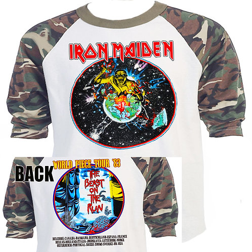 "IRON MAIDEN ""Beast on The Run""Piece Tour T-621CAMO"