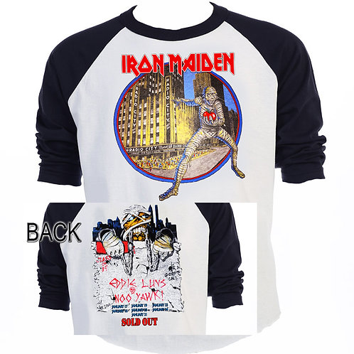 IRON MAIDEN,NY Radio City Mummy 85 TOUR T-716Blk