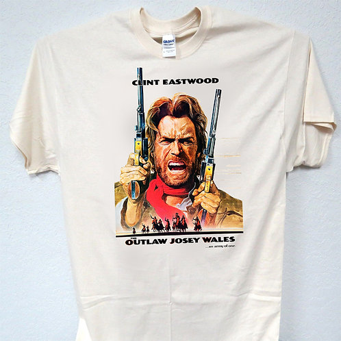 CLINT EASTWOOD, Outlaw Josey Wales T-SHIRT, ALL SIZES S-5XL, T-988 IVY