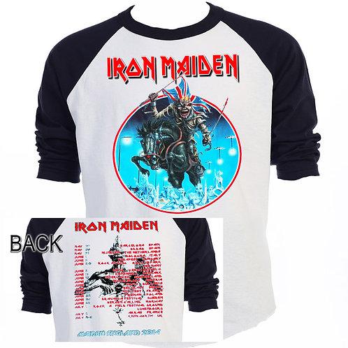 """IRON MAIDEN,""""England 2014 UK"""" Tour T-523Blk"""