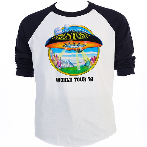 "BOSTON,""Don't Look Back 79 TOUR"" RETRO T-551Blk"