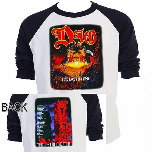 "DIO,""Last In Line"" 84-85 WORLD TOUR T-634Blk"