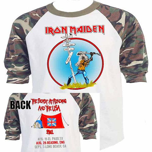 """IRON MAIDEN,""""The Beast at Reading""""82 Tour T-650"""