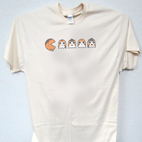 "STAR WARS,Inspired ""Chewie eats Porg Pac-Man"" Vintage look Awesome T-Shirts Size"