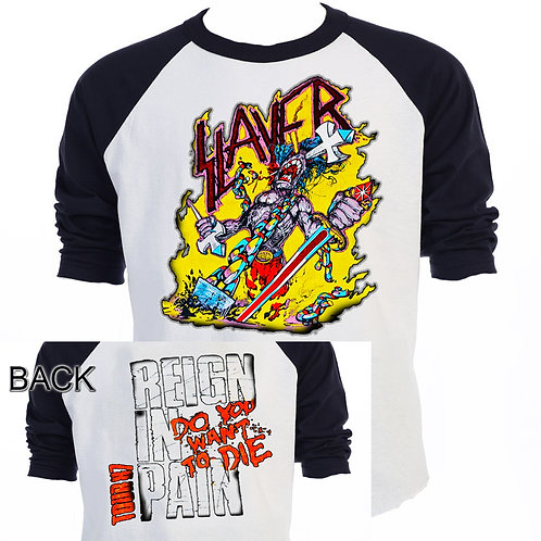"SLAYER ""Reign In Pain"" TOUR"" 87,Alt SHIRT T-588Blk"