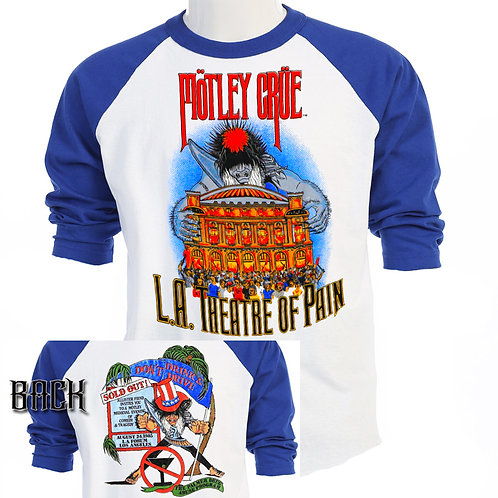 MOTLEY CRUE, LA Theater of Pain,85 TOUR,T-952Blue