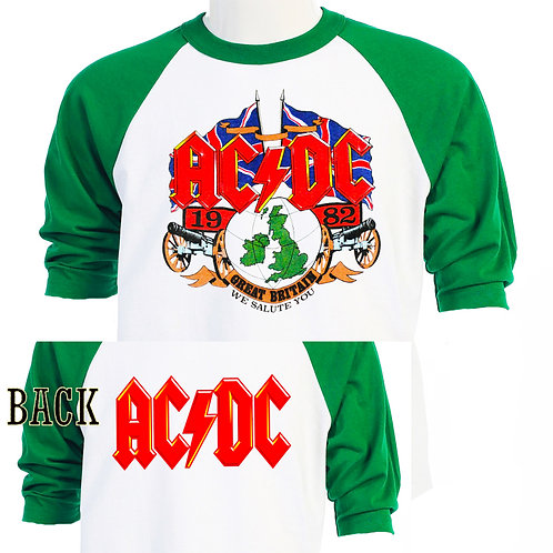 AC-DC,'82 We Salute You EURO TOUR,Retro Baseball