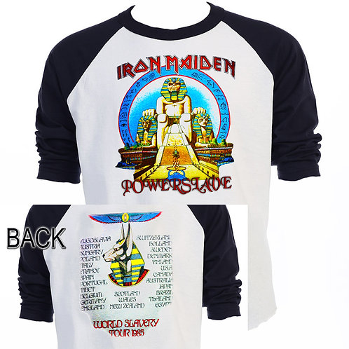 IRON MAIDEN,Powerslave 1985 WORLD SLAVERY T-644