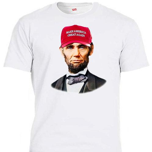 "ABE LINCOLN DONALD TRUMP SUPORT ""MAGA HAT,WWG1WGA"",T-SHIRTS, SIZES S-5XL,T-1424"