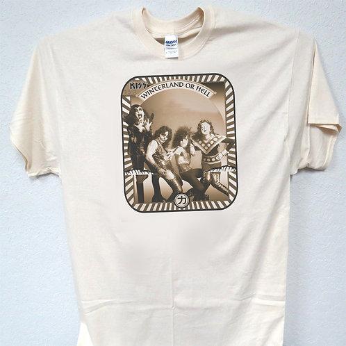 KISS,Hotter Than Hell Era,Cepiatone,, Sizes 3-5xl, T-Shirt T-332Ivy