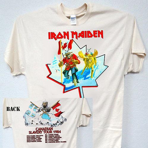 "IRON MAIDEN,""Canadian Slavery Tour"",1984 T-714"