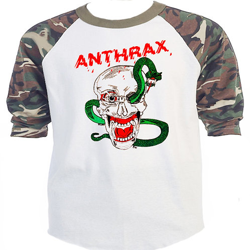 "ANTHRAX,1982, ""First Tour"" Green Camo/White T-629"