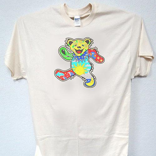 Greatful Dead Bear, Sizes 3-5xl, T-Shirt T-1594