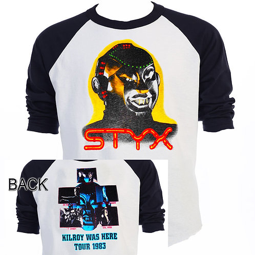 STYX, Kilroy Was Here Tour 1983,T-SHIRT,S-3X,T-790BLK