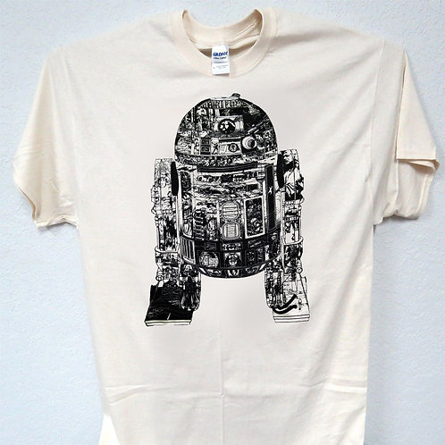STAR WARS,Inspired R2-D2,r2d2,Art in Art, T-SHIRT,S,-5X,T-767Ivy