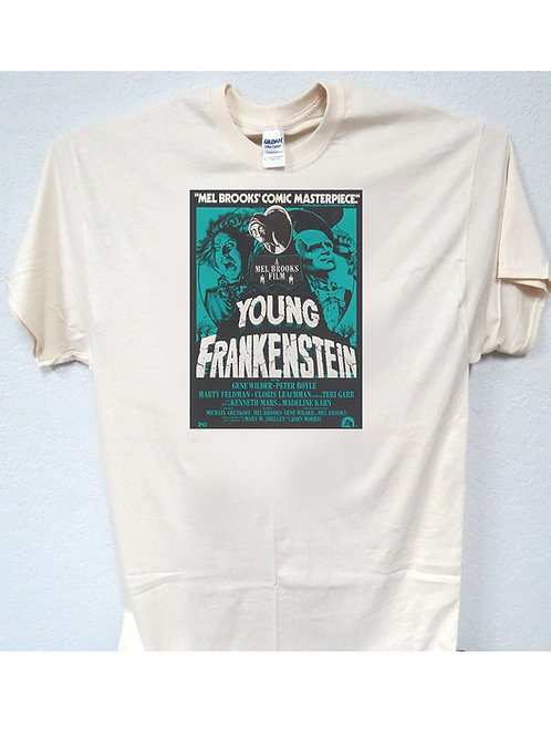 "YOUNG FRANKENSTEIN,""Classic Rare! Poster Ad"" T-SHIRT,S-5X, T-60ivy"