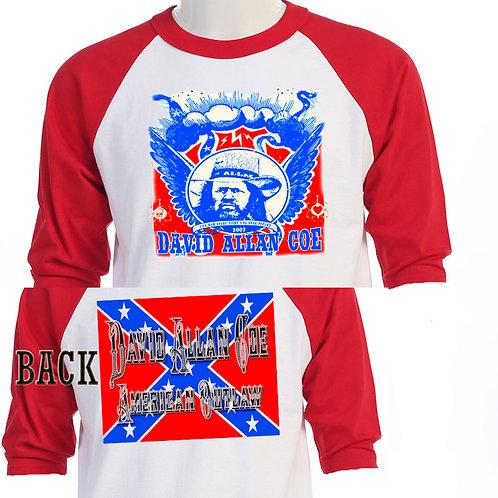 """DAVID ALLAN COE,""""American Outlaw"""" TOUR T-695"""