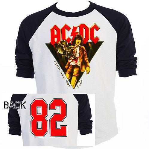 "AC/DC,ac-dc, ""82"" TOUR Baseball  T-671"