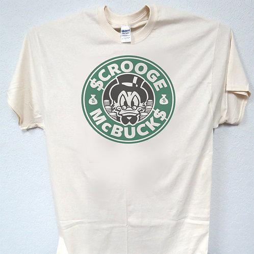 SCROOGE MC BUCK'S, COOL STARBUCKS INSPIRED MENS T-SHIRT ALL SIZE