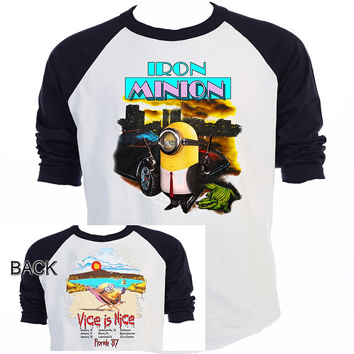 "The MINIONS,Iron Maiden Inspired ""MIAMI VICE"",Tour T-SHIRTS,SIZES S-5XL,T-1426"