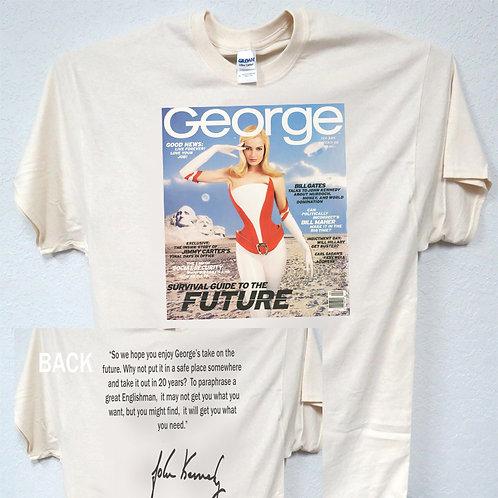 "GEORGE MAG,JFK Jr,Feb 97 ""Survival Guide To The Future"" TRUMP,T-Shirt,T-1578"