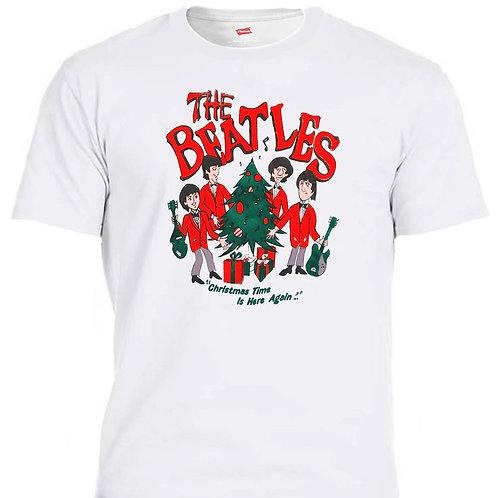 "THE BEATLES, Cartoon Retro 60's ""Beatles Christmas"",T-SHIRTS, SIZES S-5XL,T-1441"